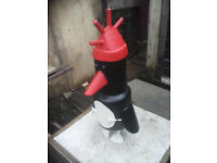 gas bottle woodburner log burner stove wallace and gromit penguin Feathers McGraw