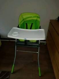 Green feeding chair / high chair