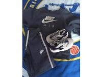 Kids Nike tracksuit and trainers