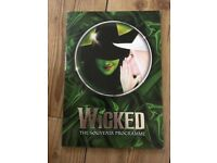 WICKED THE MUSICAL PROGRAMME BROCHURE COLLECTABLE ITEM/SOUVENIR EXC COND