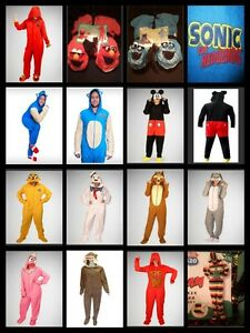 ADULT-CHARACTER-FOOTED-PAJAMAS-ONE-PIECE-FOOTIE-COSTUME-HOOD-DETACH-FEET-CAPE
