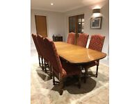 OAK DINNING CHAIRS X 6 - BROUGHT FROM BRIGHTS MODEN ANTIQUES - UNMARKED