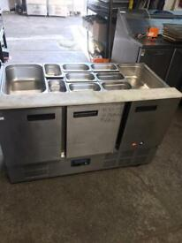 Commercial bench counter pizza fridge for pizza meat chiller mababw