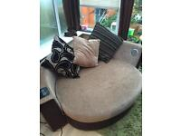Large round huddle sofa from dfs