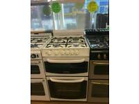 CANNON 55CM GAS DOUBLEOVEN COOKER IN WHITE