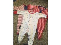 Newborn boy sleepsuits next mamas and papas