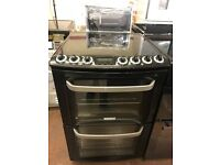 60CM BLACK ZANUSSI ELECTRIC COOKER