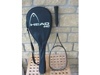 HEAD Squash Racquet with case.