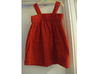 RED DRESS + matching CARDIGAN - LIKE NEW age 18 - 24 months - IMMACULATE & GORGEOUS! NOW REDUCED