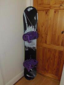 BURTON CUSTOM X 159W SNOWBOARD AND BURTON CARTEL BINDINGS