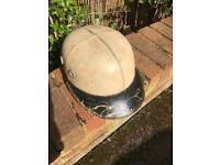 Vintage motor cycle hat 1960's rare