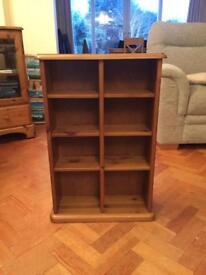 Quality pine bookshelf/CD and DVD case