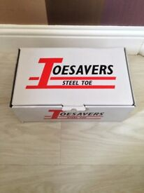 Steel Toe cap work Shoes,Brand new in Box, Briggs Toe savers size 11