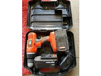 Black and decker cordless 18v drill