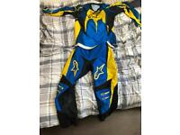 Motocross boots and outfit