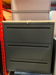 Global Contract 3 Drawer Lateral Filing Cabinets - $250