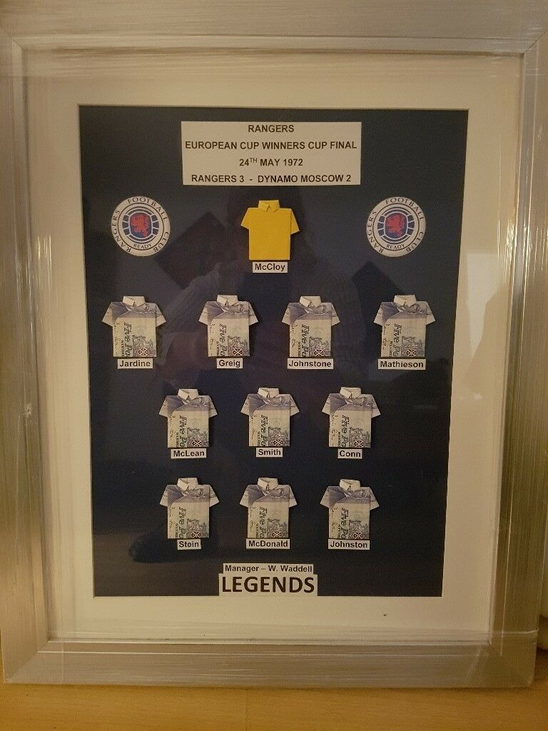 Unique framed Rangers collectable