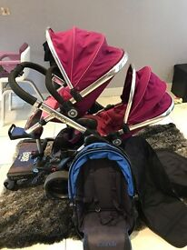 Icandy peach blossom 3 with buggy board pink Main seat blue or pink lower