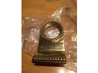 DOOR CYLINDER PULL Yale Lock Brass Handle Ring Surround , NEW