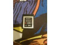 Sony XQD card G 64gb
