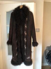 Equation leather coat size 14