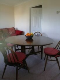 Ercol dining suite with or without chairs.