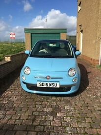 Blue Fiat 500 for sale - Excellent condition