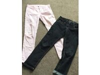 Pink age 12-13 yrs & black age 10-11 yrs jeans.