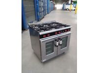 COMMERCIAL SIX BURNER COOKER TURBO FAN CONVECTION OVEN