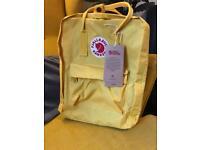 Kanken backpack yellow new!