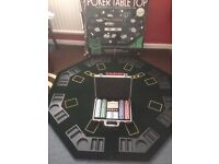 Table top poker set and chips