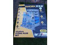 Garage wall mount tool rack storage