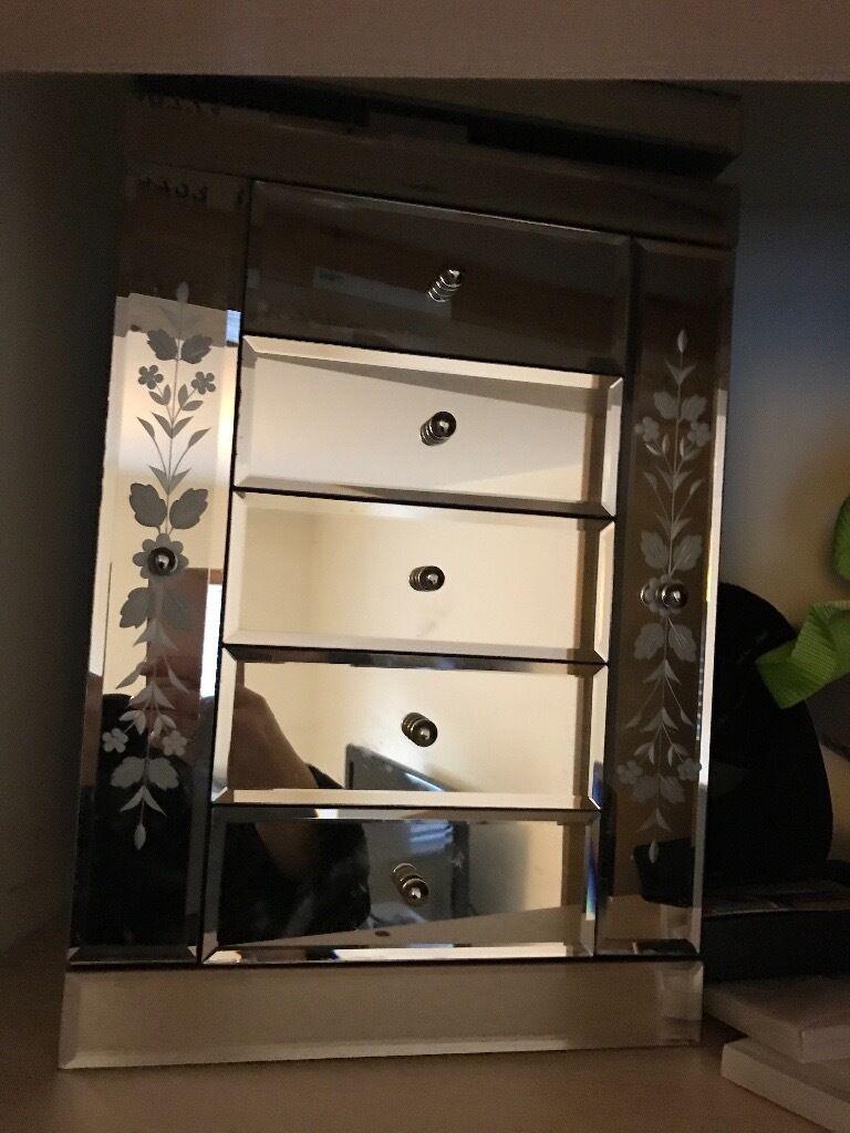 Large Mirrored Jewellery Box