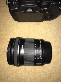 Canon 80D 10-18mm plus camera bag