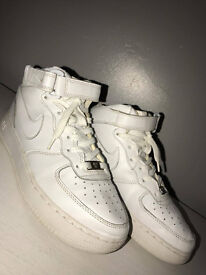 Nike air force 1 high tops size 5.5 white