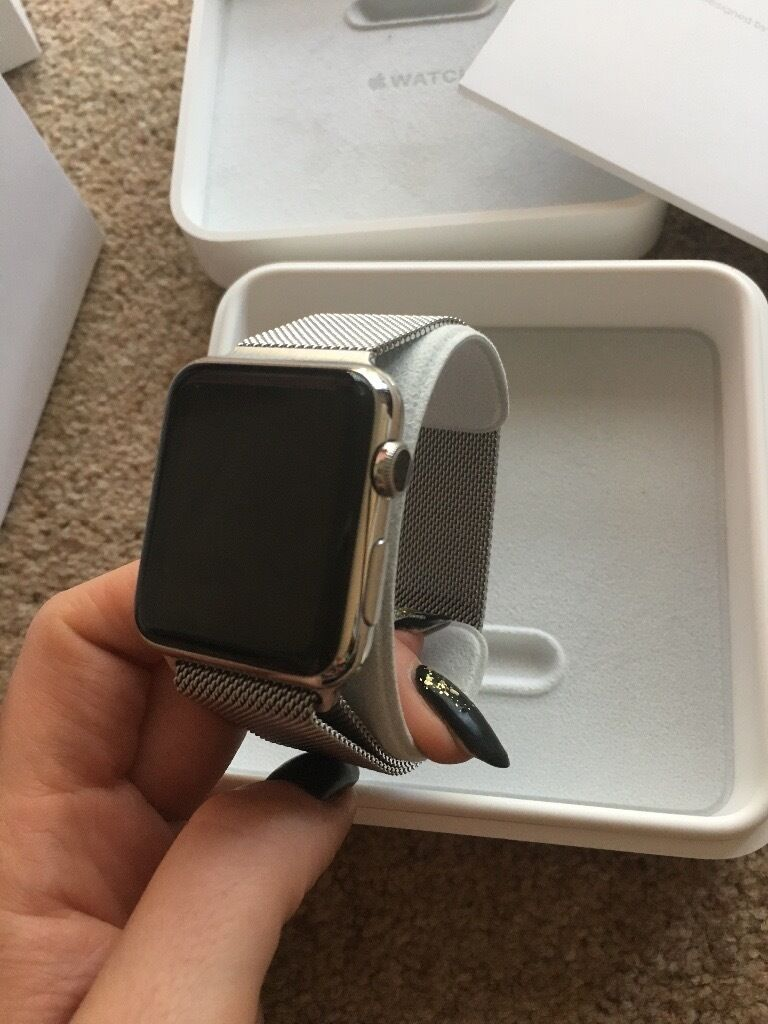 Apple Watch42mm Stainless Steel Case with Milanese Loop, model no. MJ3Y2B/Ain Felixstowe, SuffolkGumtree - Apple Watch 42mm Stainless Steel Case with Milanese Loop, model no. MJ3Y2B/A Barely used Viewings welcome Originally paid about £600 for it. £350 ono Collection Felixstowe