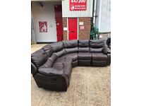 Corner sofa Large REAL Leather I CAN DELIVER FREE LOCALLY