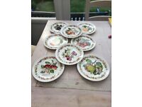 Royal Worcester 8 limited edition plates - Orchard fruits