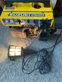 Suzuki Petrol 4 stroke generator PWO power tools lights caravan camping motor home boats