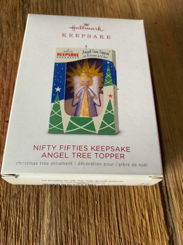 Hallmark Keepsake Ornament 2018 Nifty Fifties Angel Tree Topper Free Shipping