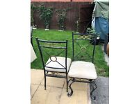 BARGAIN!! 2 WROUGHT IRON CHAIRS £15