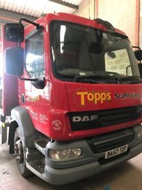 Price drop 2007 15 tonne daf ex scaffold lorry fully serviced ready for work