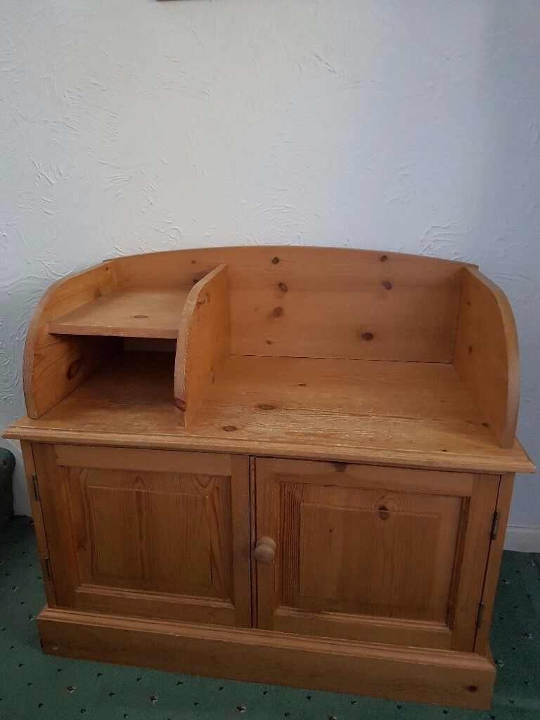 Pine Telephone Table/Storage Seat