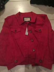 Red herring size 16 denim jacket