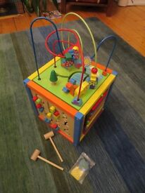 Bright and colourful toddler's activity cube
