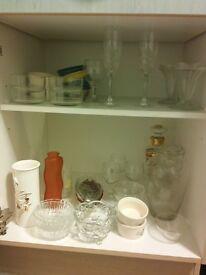 Lots of Ceramics and glassess