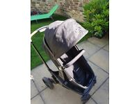 MOTHERCARE PRAM WITH CAR SEAT....GOOD CONDITION....CHEAP