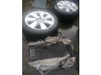 """Genuine Audi   17"""" Wheel & Tyre Storage Bags   Set of 4"""