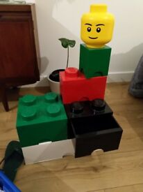 Lego storage boxes, cost £140 new. Stackable