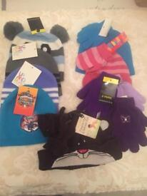Mens, ladies and kids hats and gloves